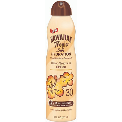 Hawaiian Tropic Silk Hydration Clear Mist Spray Sunscreen SPF 30