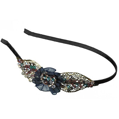 Elle Leaf Filigree Beaded Headband
