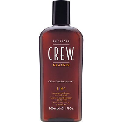 Travel Size 3-In-1 Shampoo, Conditioner and Body Wash
