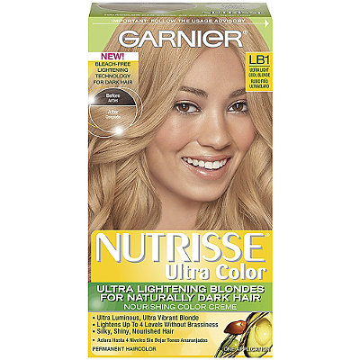 garnier nutrisse ultra color ultra light cool blonde lb1 - Colores Garnier