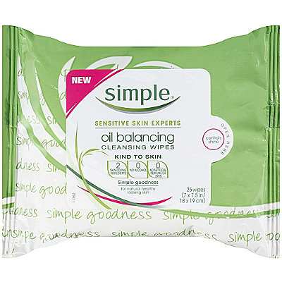 Simple Kind To Skin Oil Balancing Cleansing Wipes 25 Ct
