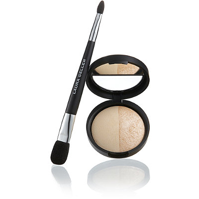 Baked Split Highlighter Duo with Brush