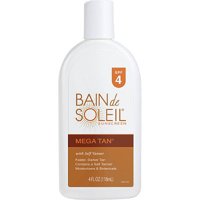 Bain de SoleilMega Tan Sunscreen w/Self-Tanners SPF 4