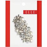 Silver Pearl/Rhinestone Barrette