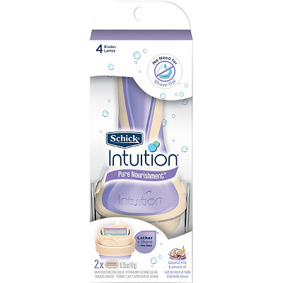 Schick Intuition Pure Norishment Coconut Milk %26 Almond Oil Razor