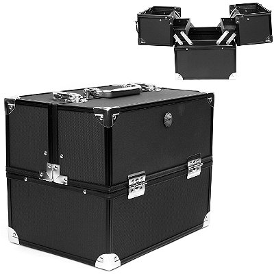 Soho Black Diamond Texture Train Case