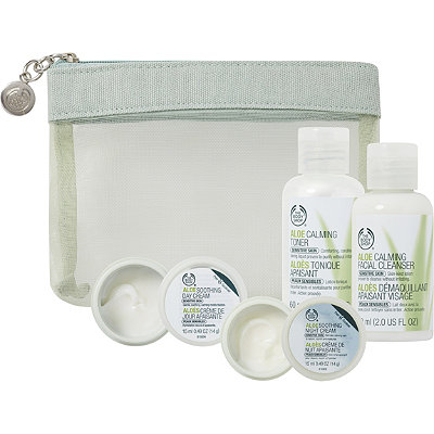 The Body Shop Online Only Aloe Skin Care Travel kit