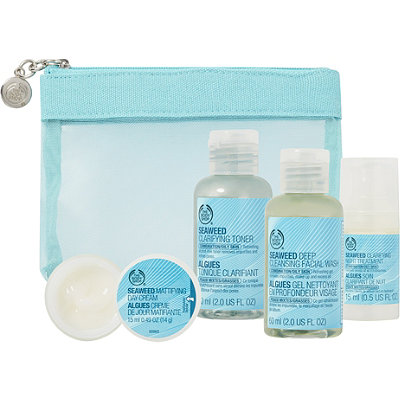 The Body Shop Online Only Seaweed Skin Care Travel Kit