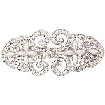 Karina Silver and Pearls Barrette