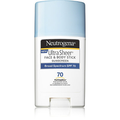 NeutrogenaUltra Sheer Face + Body Stick Sunscreen Broad Spectrum SPF 70