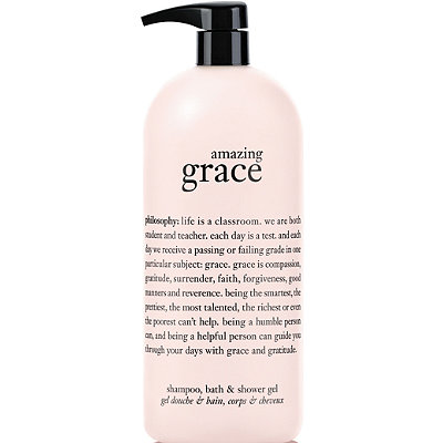 Online Only Jumbo Amazing Grace Perfumed Shampoo, Shower Gel And Bubble Bath