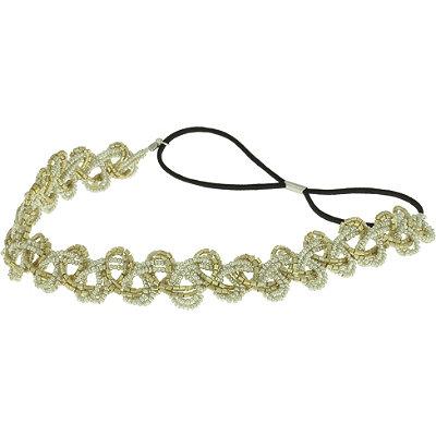 Capelli New YorkMixed Metallic Headwrap Gold