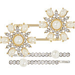 Pearl Rhinestone Hair Pins