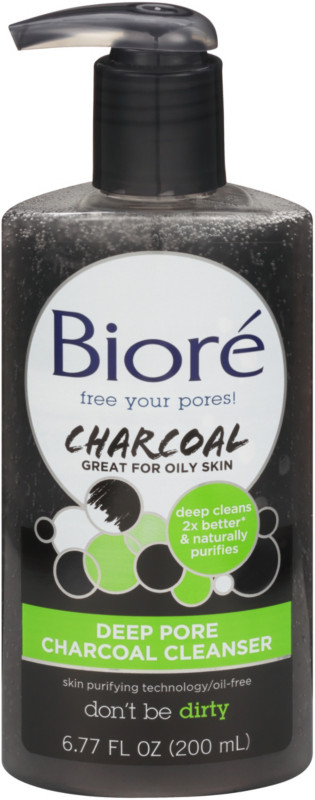Image result for biore deep pore charcoal cleanser