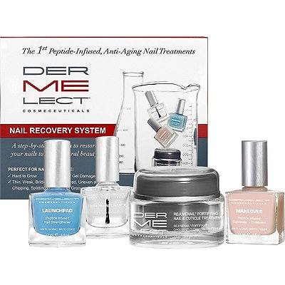 Dermelect Peptide Infused Nail Recovery System for Damaged or Aging Nails