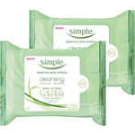 Simple Kind to Skin Cleansing Facial Wipes 2 pack