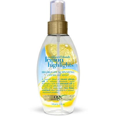 OGXSunkissed Blonde Lemon Highlights Highlight Activating Citrus Oil Mist