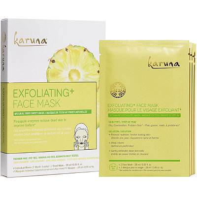 KarunaOnline Only Exfoliating + Face Sheet Mask
