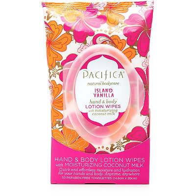 PacificaIsland Vanilla Hand & Body Lotion Wipes 30 Ct