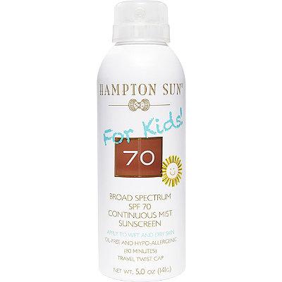 Hampton SunFor Kids Broad Spectrum SPF 70 Continuous Mist Sunscreen
