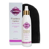 Flawless Darker Self Tan Liquid &Amp; Professional Mitt by Fake Bake