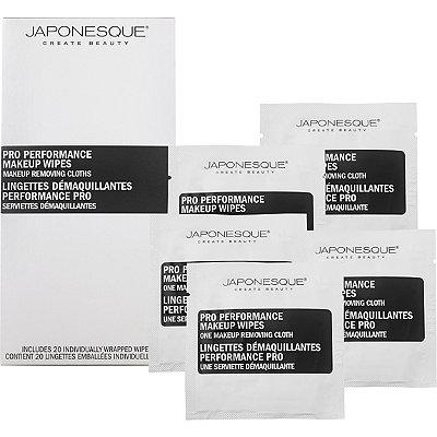 Japonesque ColorPro Performance Makeup Wipes 20 Ct