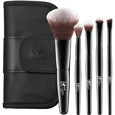 IT Brushes For ULTA Your Face %26 Eye Essentials Mini 5 Pc Travel Brush Set