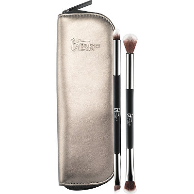 IT Brushes For ULTA You%27re Easy On The Eyes Dual-Ended Eyeshadow Brush Set