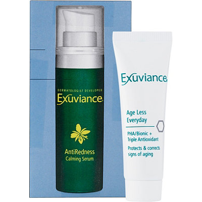 ExuvianceFREE Age Less Everyday luxury sample & Antiredness Calming Serum sample w/any Exuviance purchase