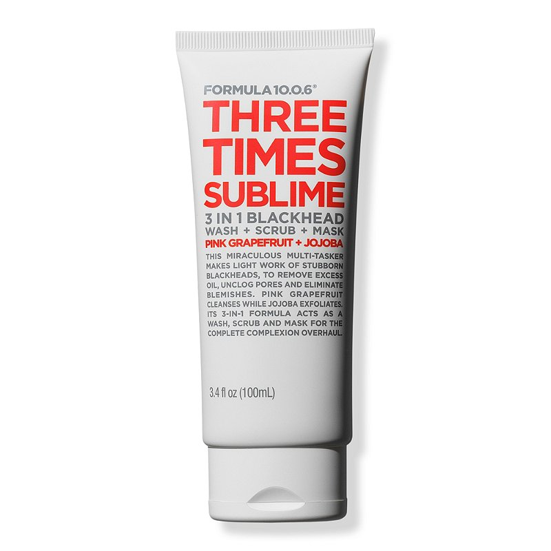 Three Times Sublime 3-in-1 Blackhead Wash + Scrub + Mask