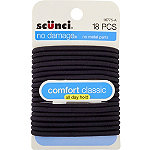 ScünciLarge Black No Damage Elastics 18 Pc.