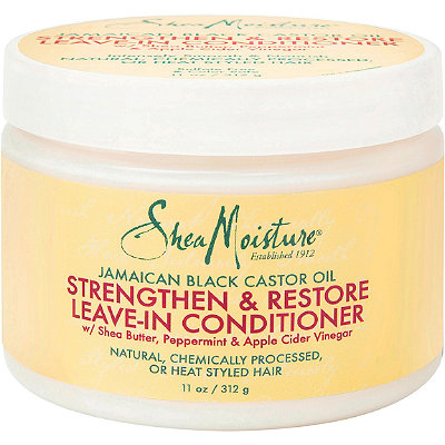 SheaMoisture Jamaican Black Castor Oil Strengthen Grow %26 Restore Leave-In Conditioner