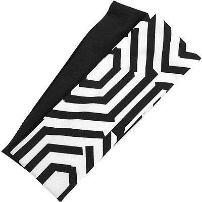 KarinaWhite %26 Black Geometric Headwrap Duo
