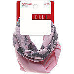 EllePink Floral and Pink Solid Super Soft Ponytailers