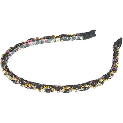 Elle Floral Print Braided Headband