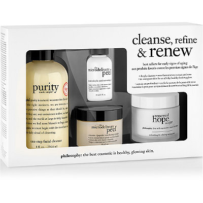Philosophy Cleanse%2C Refine %26 Renew Kit