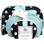 Adrienne VittadiniOnline Only Dome Shaped with Bow - Blue/Polka Dot 3 Pc Set
