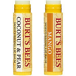 Burt's Bees Coconut & Pear/Mango Butter Moisturizing Lip Balms 2 Pk
