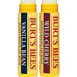 Burt's BeesWild Cherry/Vanilla Bean Moisturizing Lip Balms 2 Pk