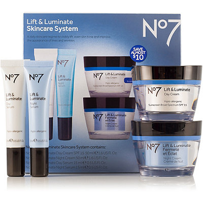 Boots No7 Lift & Luminate Skincare System SPF 15