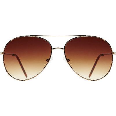 StarlightLeopard Metal Aviator Sunglasses