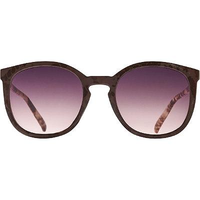 StarlightSnake Print Round Peaked Sunglasses