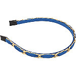 Blue with Gold Chain Headband