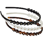 RivieraAll Over Daisy Headband Set 3 Pc