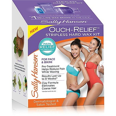 Sally Hansen Ouch-Relief Stripless Hard Wax Kit For Face %26 Body