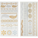 Capelli New YorkTattoo Gold Combo-Leafy Paisley