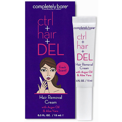 Completely Bare Facial Hair Removal Cream Control + Hair + Delete