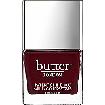 Butter London Patent Shine 10X Nail Lacquer Afters (opaque, dark blackberry crème)