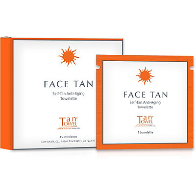 Face Tan Self-Tan Anti-Aging Towelette