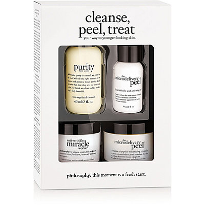 Philosophy Cleanse%2C Peel%2C Treat Trial Kit